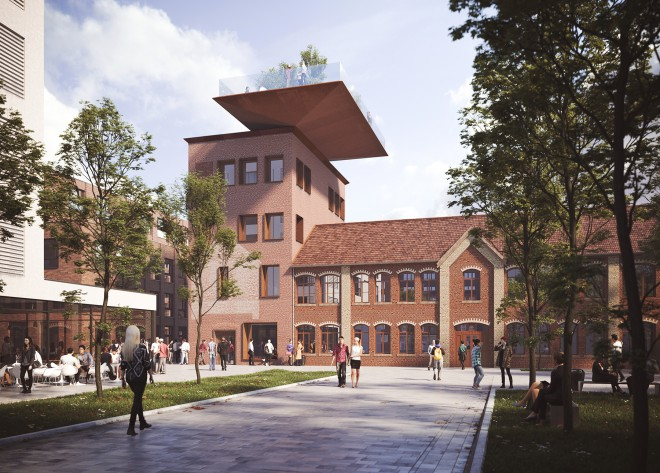 asdfg Architekten GSQ Visualisierung Sartorius Turm Göttingen